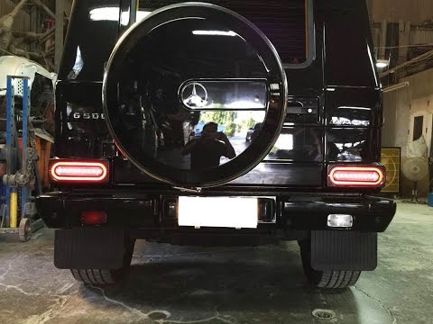 iJDMTOY LED Tail Lights/Turn Signals Lamps for 1999-up Mercedes G-Class