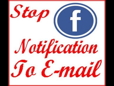 How To Stop / Block Facebook Message / Notification Coming To Email or Gmail