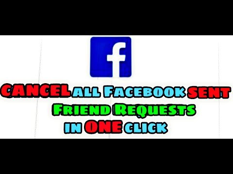 How to cancel All Facebook sent Friend Request in one click on Android Device