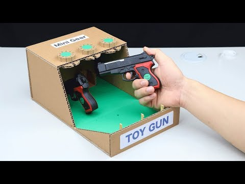 Amazing DIY Toy Gun Safe Lock BOX from Cardboard