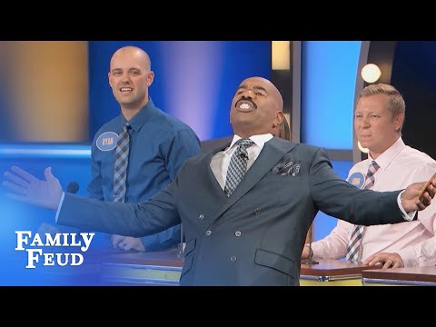 Men, is your wife's bottom THIS BIG? | Family Feud