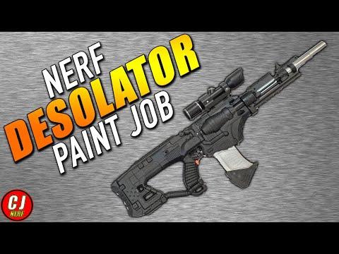 Modded Nerf Guns - Nerf Desolator Blaster - Blackout Battle Rifle