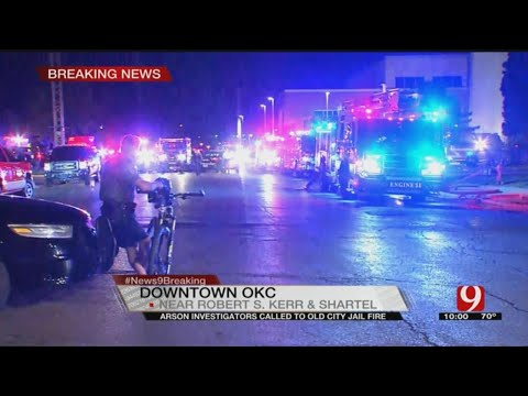 Crews Battle Fire At Old Oklahoma City Jail In NW OKC