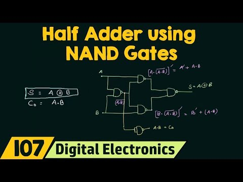 Realizing Half Adder using NAND Gates only