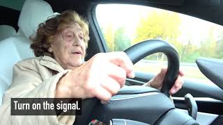 "92 year-old Roosi gets to drive a Tesla Model X: ""I"