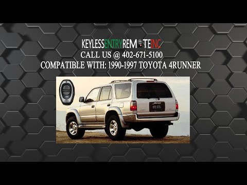 How To Replace Toyota 4Runner Key Fob Battery 1990 - 1997 Part # BAB237131-022