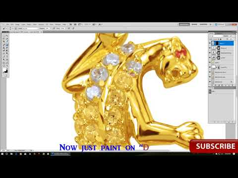 How to retouch Golden jewelry photo in Photoshop? tutorial(2017}.