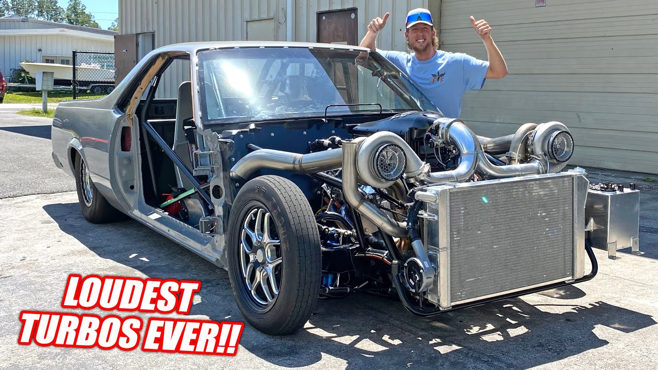 MULLET IS ALIVE!!! First Drive in Our 2,000 Horsepower Twin Turbo El Camino!!