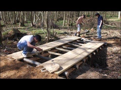 Building a Log Bridge - GoPro Timelapse