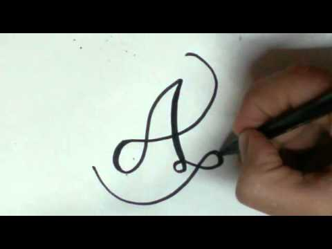 font styles - A letter (easy)