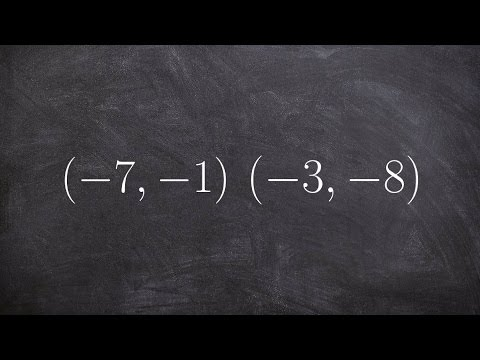 Finding the linear equation given two points
