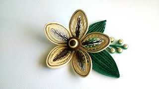 Quilling a flower with a comb. Quilling Tutorial.