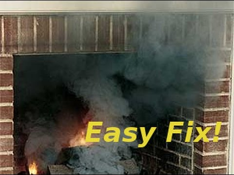 Fireplace /Woodstove is smoking alot ? Chimney dosent draw? easy fix !