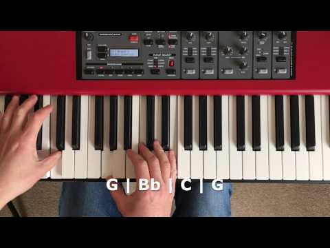 A cool piano improvisation on a non-diatonic chord progressions - with modes!