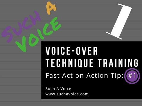 Voice-Over Technique Training - Fast Action - Exercise 1