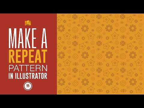 HOW TO MAKE A REPEAT PATTERN IN ILLUSTRATOR - Illustrator Tutorial