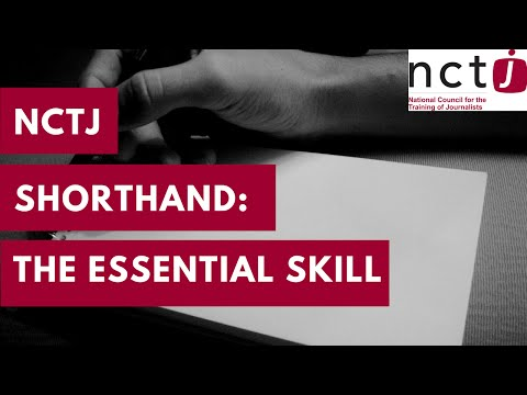 NCTJ shorthand video