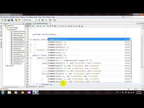 How to Sort Char Array in Java Netbeans