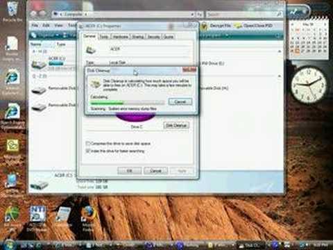 Disk Cleanup On Vista