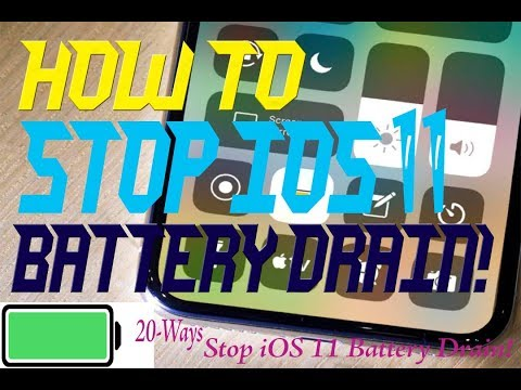 How to Stop iOS 11 Battery Drain! | Battery|| Top 20 Tips to Save Battery Life in iOS 11.2.2|| ios11