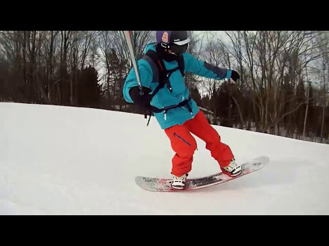 High Speed Carving On A Snowboard - Selfie