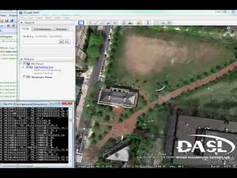 Recorded Garmin GPS data played back using C# and Google Earth