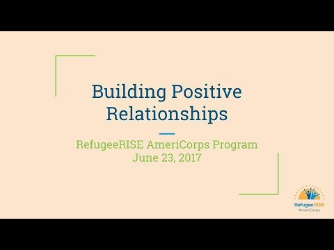 Friday Member Call - Building Positive Relationships