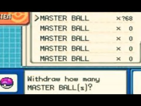 How to get UNLIMITED MASTER BALLS in POKEMON FIRE RED (IN PC) ??