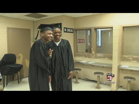 Two inmates in St. Landry Parish receive their Diploma