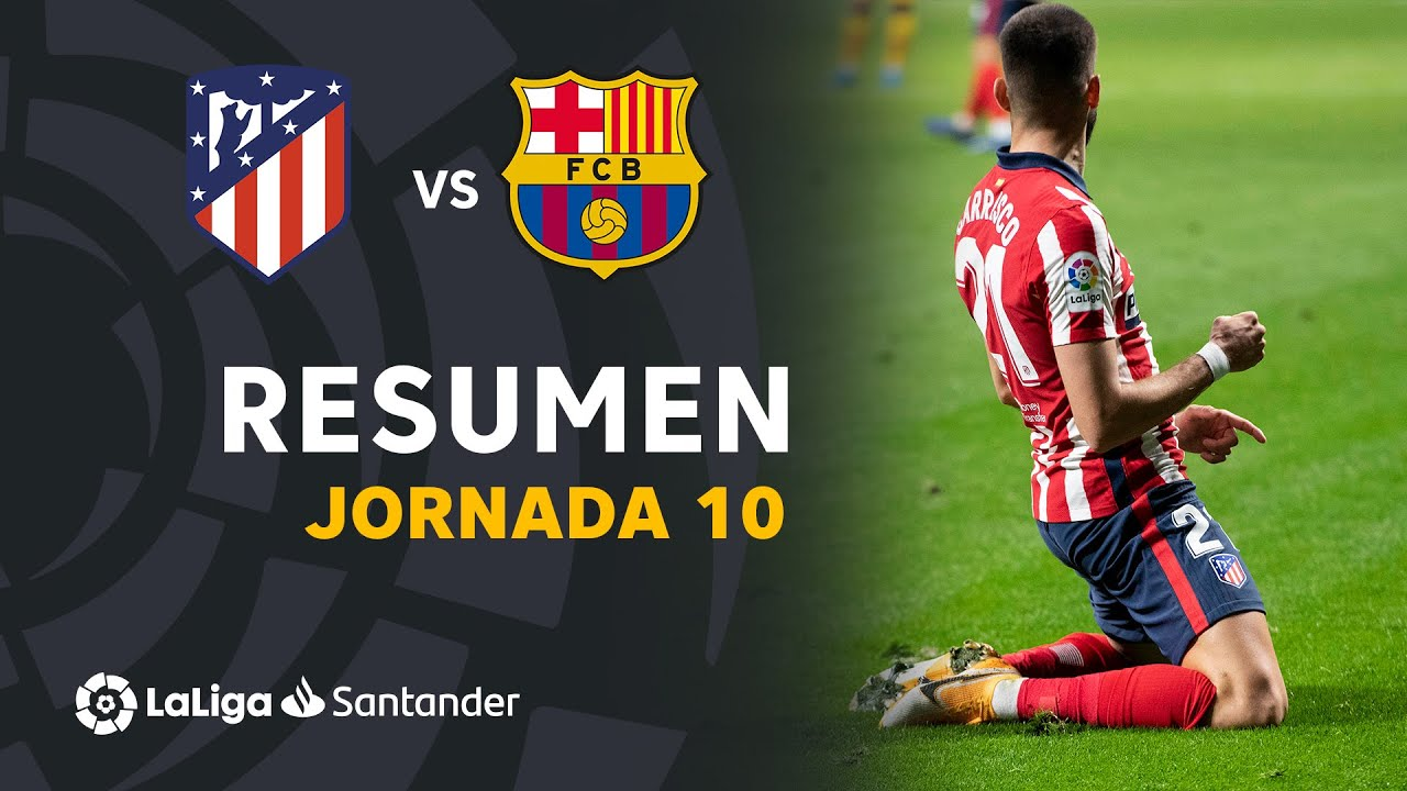 Resumen de Atlético de Madrid vs FC Barcelona (1-0)