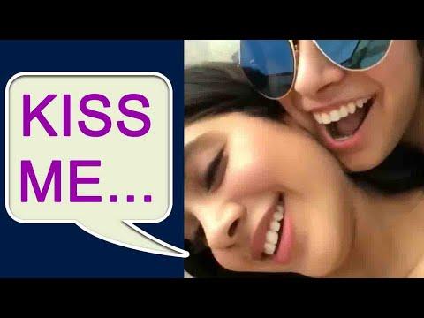 Jhanvi Kapoor ask Khushi Kapoor to KISS HER ! Watch Video | FilmiBeat