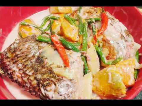 How to cook Ginataang tilapia (ginataang isda)  pinoystyle