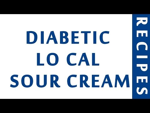 DIABETIC LO CAL SOUR CREAM | QUICK RECIPES | EASY TO LEARN