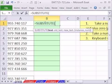 Excel Magic Trick 715: Take Number with Spaces and Convert to Number