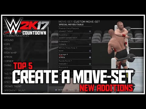 WWE 2K17 - 5 NEW Things In Create A Move-Set! (WWE 2K17 Top 5)