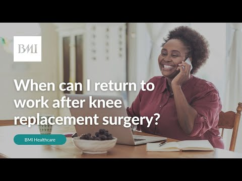 When can I return to work after knee replacement surgery?