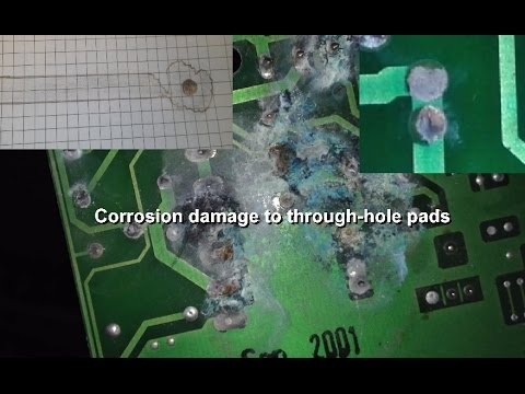 Repair tip - What to look for on corroded through-hole PCBs