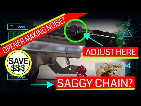 Liftmaster / Chamberlain | Garage Door Opener Loose Chain / Tight Chain | EASY DIY!!