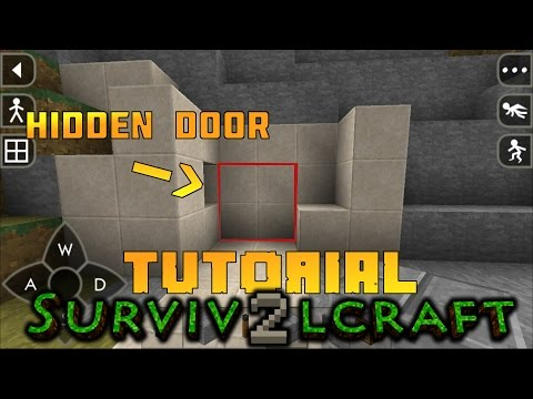 SurvivalCraft 2 Hidden Piston Door Tutorial