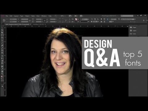 My Top 5 Fonts //DESIGN LIKE A PRO