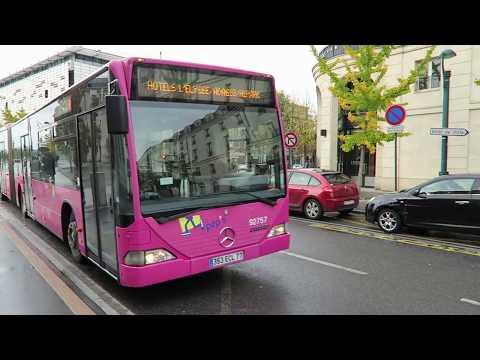 Taking the free bus to Disneyland Paris