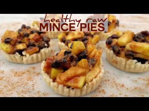 Raw Easy Mince Pies Sweetened with Fruit Recipe - Gluten and Flour Free