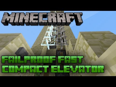 Minecraft: 1.5 Fast Compact Piston Elevator | Fail Proof | SMP