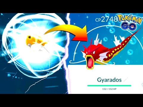 THIS IS WHAT HAPPENS WHEN YOU EVOLVE A SHINY MAGIKARP IN POKEMON GO! NEW SHINY GYARADOS EVOLUTION!