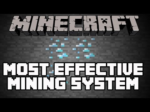 Minecraft Playstation 3 Edition - How To Mine Diamonds, Gold, Iron (Most Effective Mining System)