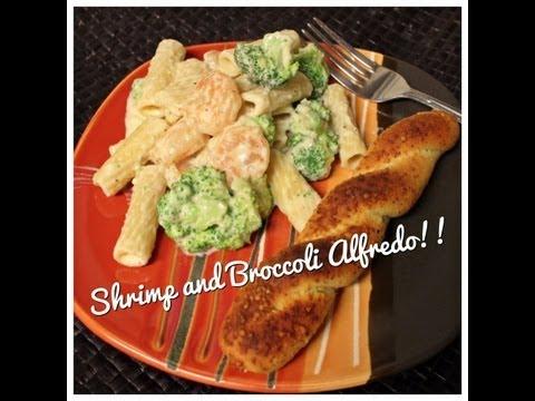 Shrimp & Broccoli Alfredo (20 minute meal!)