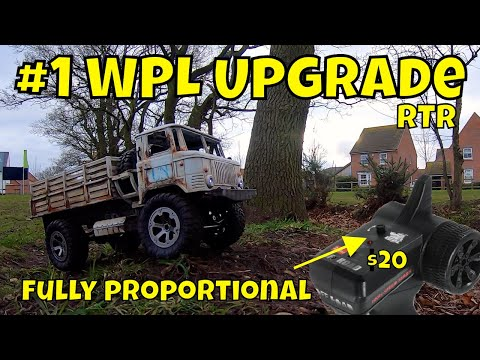 Upgrade any WPL Military RC Truck to fully proportional for less than $20!
