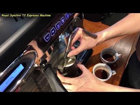 Dual Frothing , Auto-Froth Milk for 2 Cafe Latte (Using the Royal Synchro T2 Coffee Machine)