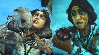 Clem Chops Sarita Arm vs Kills the Walker -All Choices- The Walking Dead