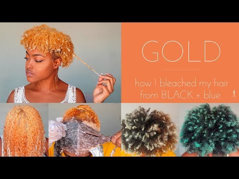 How I Bleach my Natural Hair